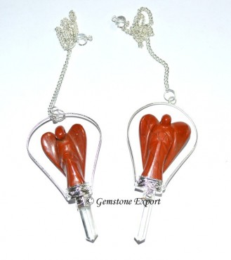 Red Jasper Angels Pendulums