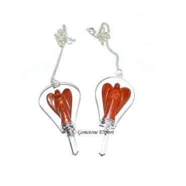 Red Jasper Angels Pendulums