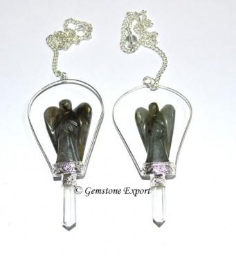 Labradorite Angels Pendulums