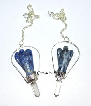 Sodalite Angels Pendulums