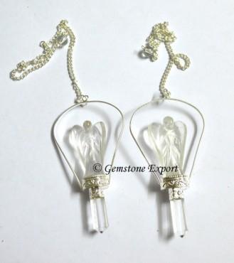 Crystal Quartz Angels Pendulums