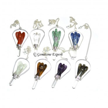 Mix Gemstone Angel Pendulums