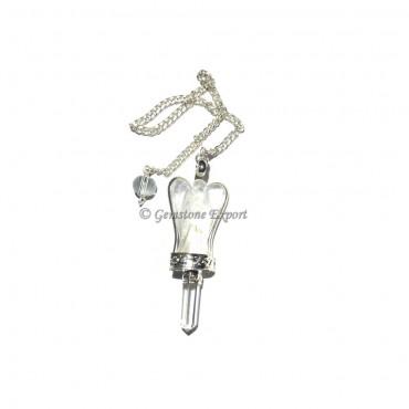 Crystal Quartz Angel Pendulum