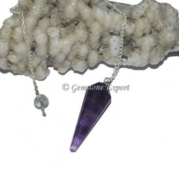 Amethyst 12 Faceted Pendulum