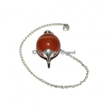 Red Agate Ball Pendulums