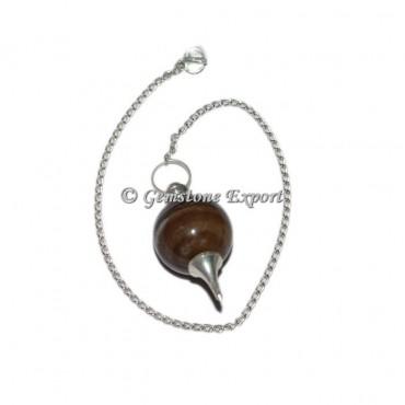 Black Onyx Agate Ball Pendulums