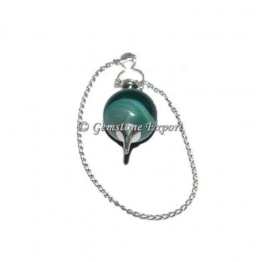 Green Onyx Agate Ball Pendulums