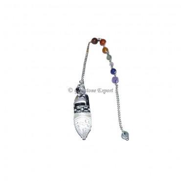 Crystal Shree Yantra with 7 Chakra Pendulum