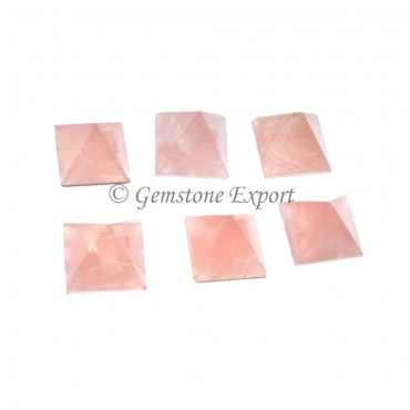 Rose Quartz Small Pyramids