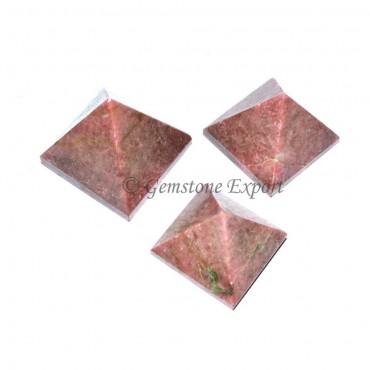 Rhodonite Small Pyramids