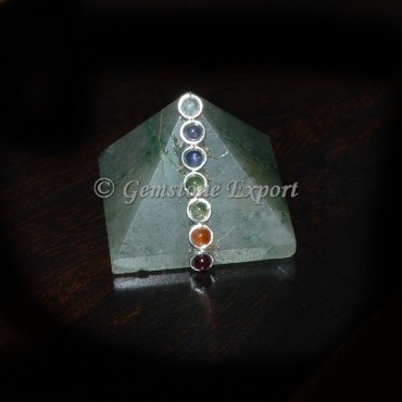 Green Aventurine Chakra Pyramids with Cabs