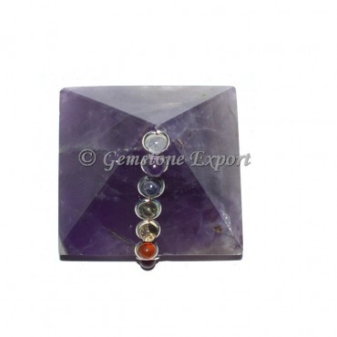 Amethyst Chakra Pyramids with Cabs