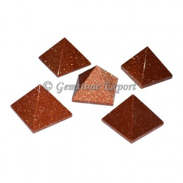 Brown Sunstone Small Pyramids