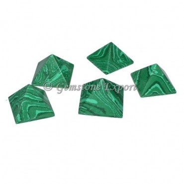 Synthetic Malachite Small Pyramids