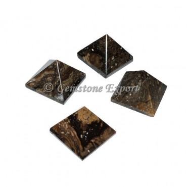 Black-Brown Jasper Small Pyramids