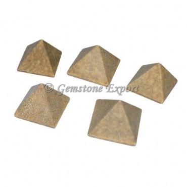 Yellow Jade Small Pyramids