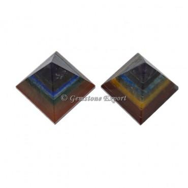 Seven Chakra Pyramid With Lapis Lazuli