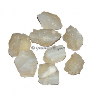 White Onyx Rough Chunk Tumbled