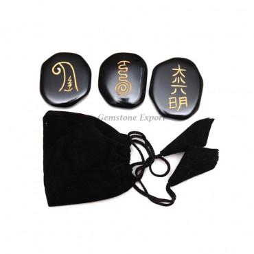 Black Agate Reiki Master Set