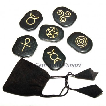 Black Agate Wiccan Stone Sets