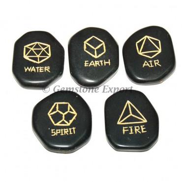 Five Elements Black Agate Sets