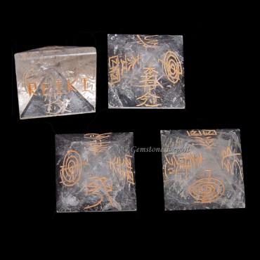 Crystal Quartz Pyramids Usai Reiki Sets