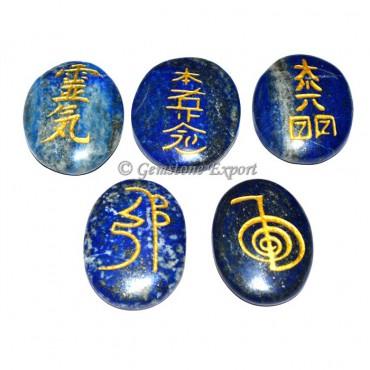 Lapis Lazuli 5 Symbol Reiki Set