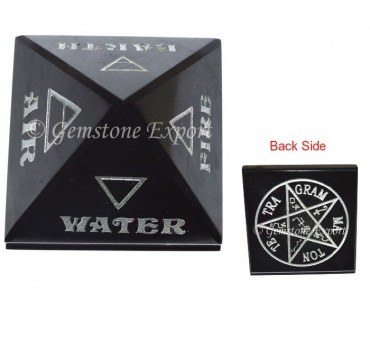 Reiki Elements Pyramids With Pentagram Symbol