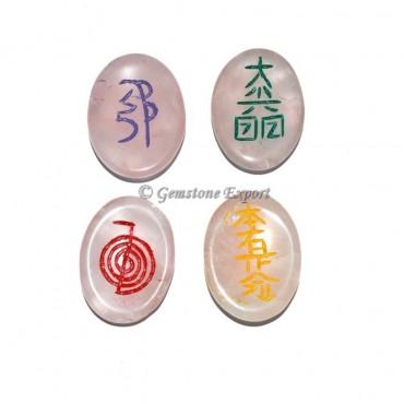 Rose Quartz Worry Stone Usai Reiki Set