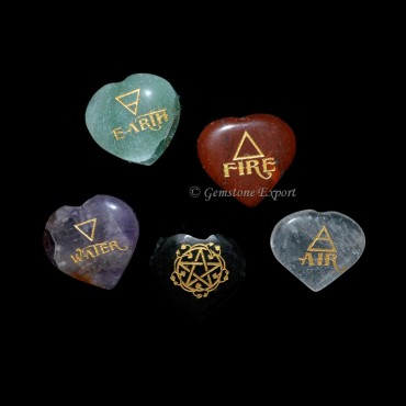 Reiki Hearts Shape Element Set