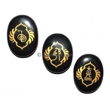 Black Agate Fancy Design Reiki 1 &2 Set