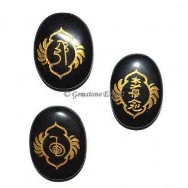Black Jasper Fancy Design Reiki 1 & 2 Set