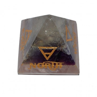 Amethyst-Rose-Crystal Bonded Element Pyramid Set