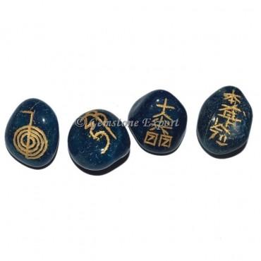Blue Onyx Usai Reiki Tumbled Set