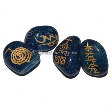Blue Onyx Stone Usai Reiki Tumbled Set