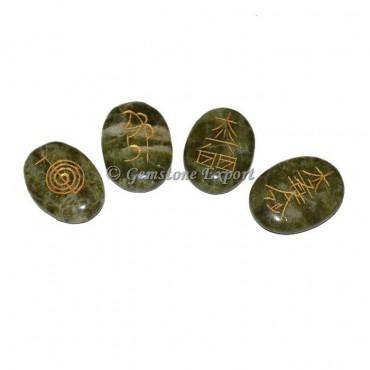 Green Agate Usai Reiki Set