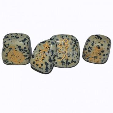 Dalmatian Jasper Usai Reiki Tumbled Set