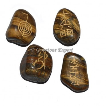 Tiger Eye Usai Reiki Tumbled Set