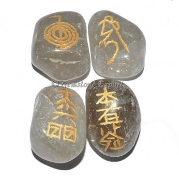 Smokey Stone Usai Reiki Tumbled Set