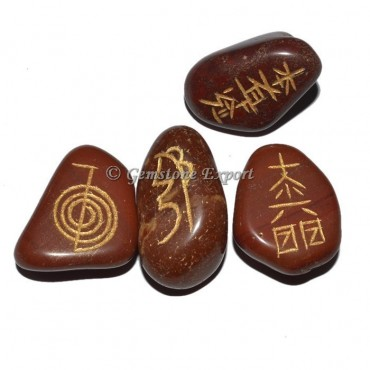 Red Jasper Usai Reiki Tumbled Set