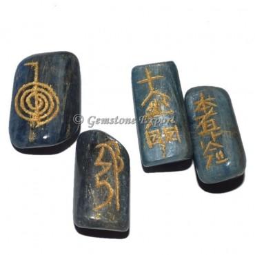 Kyanite Usai Reiki Tumbled Stone Set