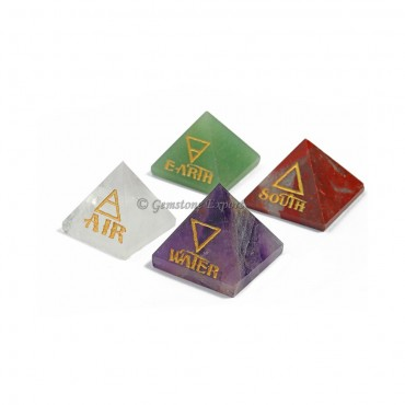 Reiki Pyramids Natural Element Set