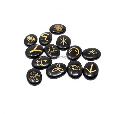 Black Agate Witches Rune Set