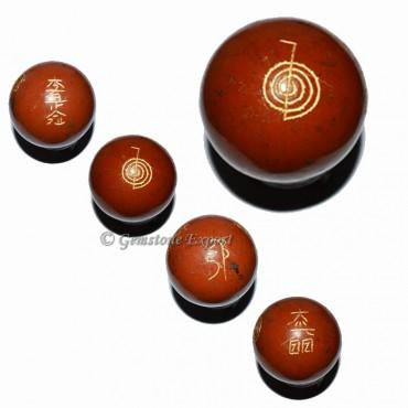 Red Jasper Ball Usui Reiki Set