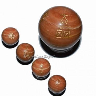 Peach Aventurine Ball Usui Reiki Set