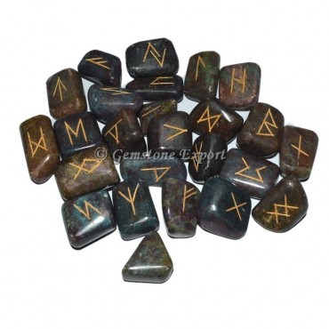 Ruby Stone Rune Divination Set