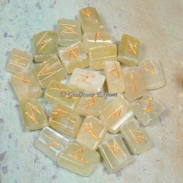 Yellow Calcite Rune Divination Set