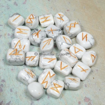 Howlite Rune Divination Set