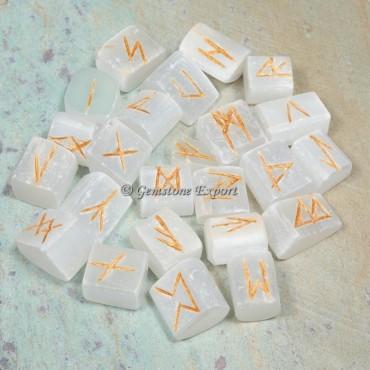 Selenite Rune Divination Set
