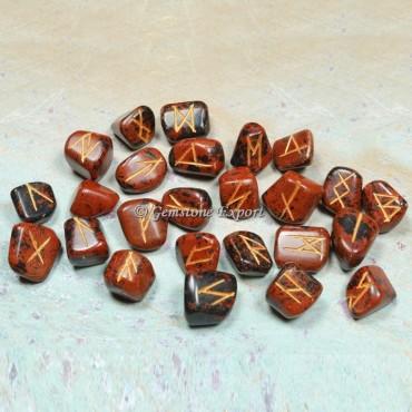 Mahogany Jasper Rune Divination Set
